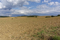 Farmland on a late summer day Royalty Free Stock Images