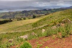Farmland at Marion Bay, Tasmania, Australia Stock Photos