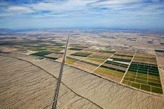 Farmland Meets the Desert Royalty Free Stock Photos