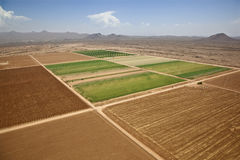 Farmland Meets the Desert Royalty Free Stock Image