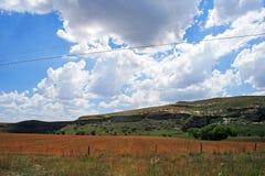 FARMLAND WITH MOUNTAIN Stock Image