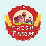Farmland, Organic Eco Fresh Farm Logo Royalty Free Stock Photos