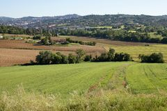 Farmland Perugia Royalty Free Stock Image