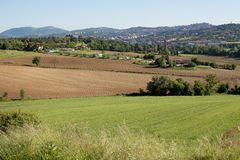 Farmland Perugia Royalty Free Stock Photos