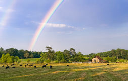 Farmland Rainbow Stock Images