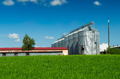 Farmland and silos Stock Photos
