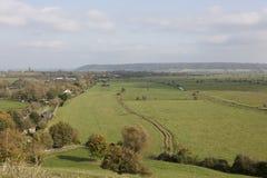 Farmland of the Somerset levels England. Farmland of the Somerset Levels in the West Country of Somerset England stock image