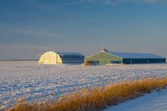 Farmland Storage Stock Image