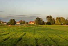 Farmland at sunset Royalty Free Stock Photo