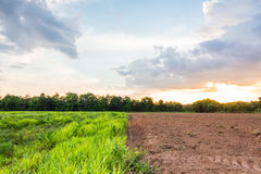Farmland sunset Stock Photography