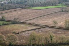 Farmland after a sustained period of rain UK. Farmland in north Devon, UK, saturated after a period of high rainfall Royalty Free Stock Photo