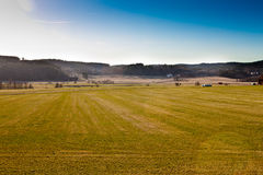 Farmland in sweden. Scenic view over famrland i western part of sweden stock image
