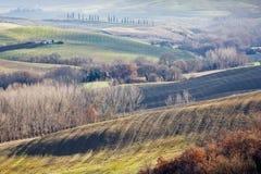 Farmland in Val d'Orcia, Tuscany (Italy). Royalty Free Stock Image
