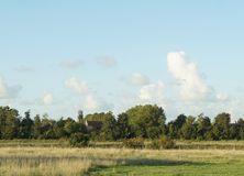 Farmland view in Netherlands. Near Oostburg town Royalty Free Stock Images