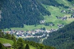 The farmland and villa of Brixen. The farmland and villa near the Brixen city of the Bressanone, South Tyrol of Italy royalty free stock images