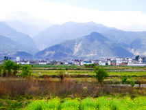 Farmland in Yunnan. A piece of farmland on the foot of a mountain in dali city Yunnan province China royalty free stock image