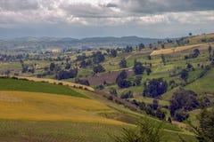 Farmlands at the central Andean mountains stock photos