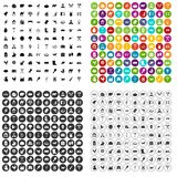100 farmlands icons set vector variant. 100 farmlands icons set vector in 4 variant for any web design isolated on white Stock Image