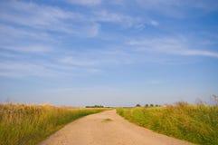 Farmlandscape de cuvette de route de campagne Image libre de droits