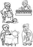 farmor Stock Illustrationer
