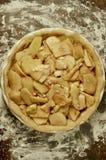FarmorSmith Apple Pie Tart Overhead sikt royaltyfri fotografi