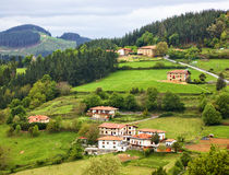 Farms at Arratia valley. In Euskadi Royalty Free Stock Image