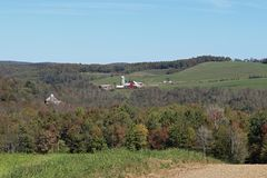 Farms in the hills Stock Photography