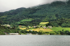 Farms of Norway Stock Photo