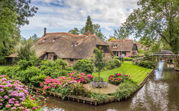 Farms with thatched roofs in Giethoorn Stock Image