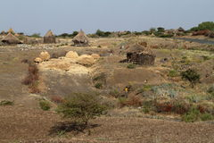 Farms and villages in Ethiopia. The Farms and villages in Ethiopia Royalty Free Stock Photo