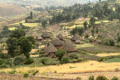 Farms and villages in Ethiopia. The Farms and villages in Ethiopia Royalty Free Stock Images