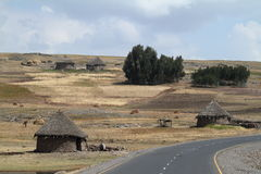 Farms and villages in Ethiopia. The Farms and villages in Ethiopia Stock Photography