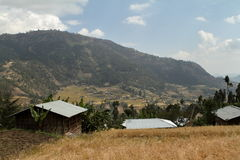 Farms and villages in Ethiopia. The Farms and villages in Ethiopia Stock Photo