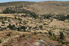 Farms and villages in Ethiopia Royalty Free Stock Photo