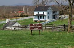 Farmstead του Joseph Poffenberger στο εθνικό πεδίο μάχη Antietam Στοκ Εικόνα