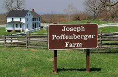 Farmstead του Joseph Poffenberger στο εθνικό πεδίο μάχη Antietam Στοκ φωτογραφία με δικαίωμα ελεύθερης χρήσης