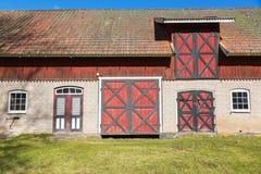 Farmstead with a barn Stock Photos