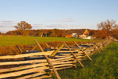 Farmstead at Gettysburg. A farmstead on the battlefield at Gettysburg National Military Park,Pennsylvania,USA Stock Photography