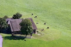 Farmstead im Alt Adige Stockbilder
