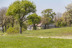 Farmstead at spring time Royalty Free Stock Image