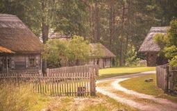 Farmsteed, 19世纪,立陶宛 库存图片