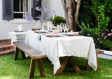 Farmstyle rustic table setting Stock Photography