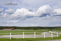 Farmyard. A farmyard for trotting horses in Sweden Stock Images