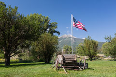 Farmyard and cart by Mt Princeton CO Royalty Free Stock Image