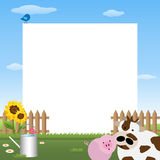 Farmyard frame stock images