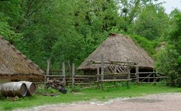 Farmyard in open air museum, Kiev, Ukraine Stock Photography