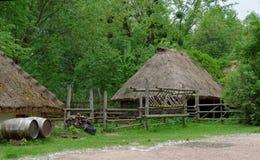 Farmyard in open air museum, Kiev, Ukraine. Farmyard with a hay barn in open air museum, Kiev, Ukraine Stock Photography