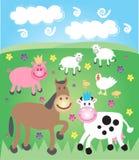 farmyard pole ilustracja wektor