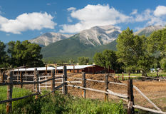 Farmyard and stable by Mt Princeton CO Royalty Free Stock Photo