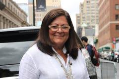 Farn mallis, New- Yorkmodewochenfrühling 2016 Lizenzfreie Stockfotografie